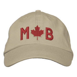 Monogram Personalize Maple Leaf Embroidery Baseball Cap