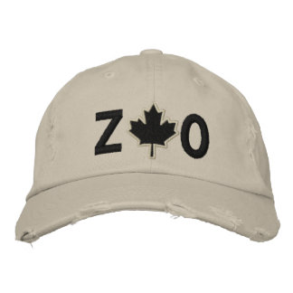Monogram Personalize Maple Leaf Embroidery Embroidered Baseball Caps