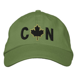 Monogram Personalize Maple Leaf Embroidery Embroidered Hat