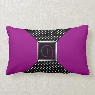 Monogram Polka Dots and Lilac Throw Pillows