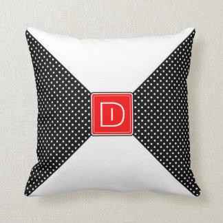 Monogram Polka Dots and White Cushions