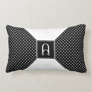 Monogram Polka Dots and White Throw Cushions
