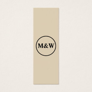 Monogram Professional Elegant Mini Business Card