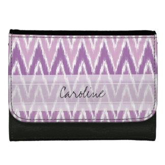 Monogram Purple Ombre Ikat Chevron Zig Zag Pattern Wallets
