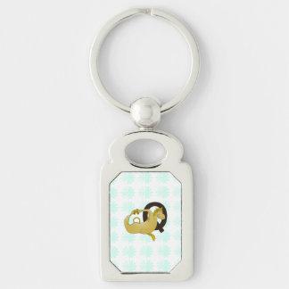 Monogram Q Cartoon Pony Personalized Key Chain