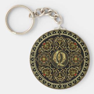 Monogram Q Key Ring