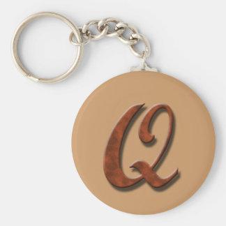Monogram Q Keychain
