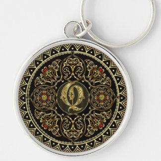 Monogram Q Silver-Colored Round Key Ring