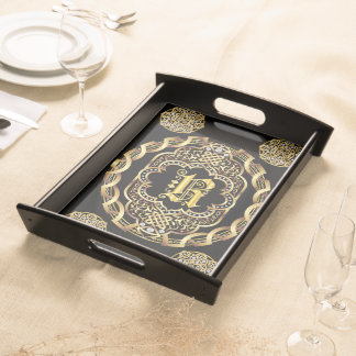 Monogram R IMPORTANT Read About Design Serving Tray
