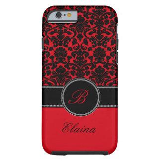Monogram Red, Black, White Damask iPhone 6 case Tough iPhone 6 Case