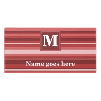 Monogram red stripes door sign