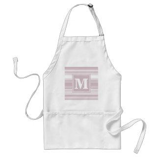 Monogram rose quartz stripes standard apron