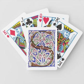 "Monogram ""S"" - Playing Cards"