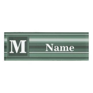 Monogram sage green stripes
