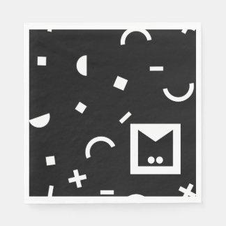 Monogram Series: Memphis Stuck in the Eighties Disposable Serviette