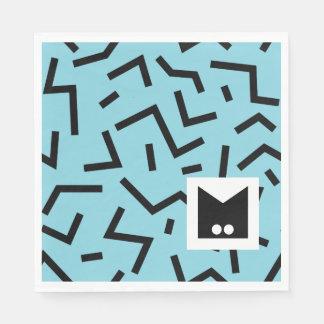 Monogram Series: Memphis Stuck in the Eighties Paper Napkins