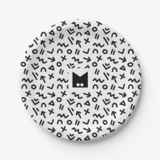 Monogram Series: Memphis Stuck in the Eighties Paper Plate