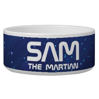 Monogram Series: Your Pet The Martian. Funny Gift. Dog Bowl