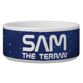 Monogram Series: Your Pet The Terran. Funny Gift. Dog Food Bowls