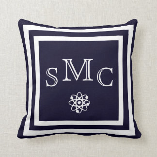 MONOGRAM Solid dark blue plain pillow