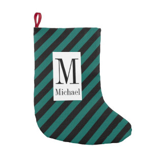 Monogram Striped Christmas Stocking