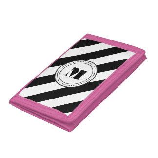 Monogram stripes wallet - diagonal