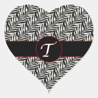 Monogram T Black White Scaled Pattern Sticker