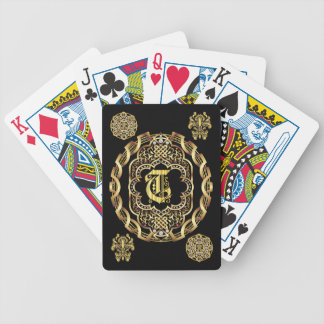 Monogram T IMPORTANT Read About Design Bicycle Playing Cards