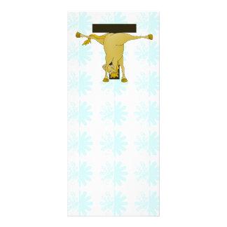 Monogram T Pony Horse Personalised Custom Rack Card