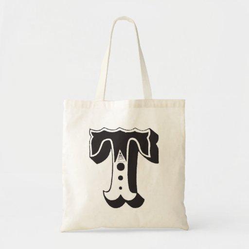 Monogram T tote bag