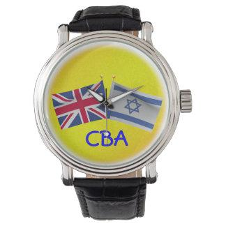 Monogram United Kingdom & Israel Flag Watch