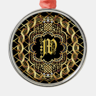 Monogram W IMPORTANT Read About Design Christmas Ornament