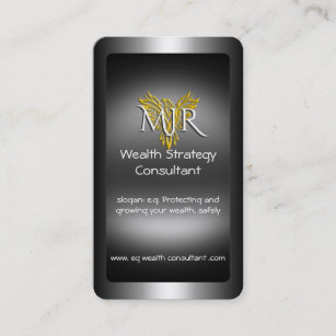 43 strategy consultants business cards and strategy consultants monogram wealth strategy consultant metal look business card colourmoves