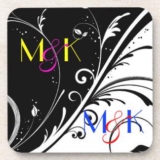 Monogram Wedding Coasters for Newly Weds