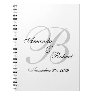 Monogram Wedding Custom Guest Book