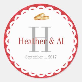 Monogram Wedding Envelope Seal Stickers