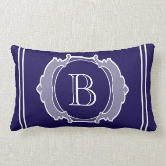 Monogram white frame lumbar pillow