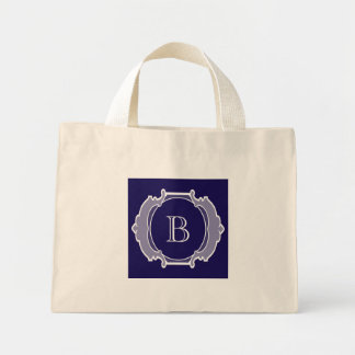 Monogram white frame mini tote bag