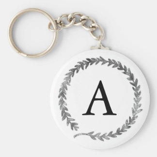Monogram Wreath Keychain