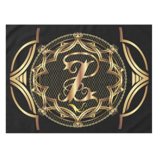 Monogram Z CUSTOMIZE To Change Background Color Tablecloth