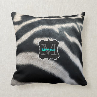 Monogram Zebra Photo Cushion