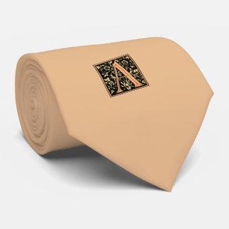 Monogrammed A Mens Tie