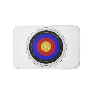Monogrammed Archery Target Bath Mat