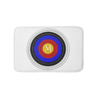 Monogrammed Archery Target Bath Mats