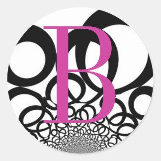 Monogrammed Black and White Sticker