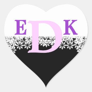 Monogrammed Black and White Sticker Letter D