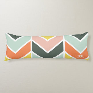 Monogrammed | Cheerful Chevron by Origami Prints Body Cushion