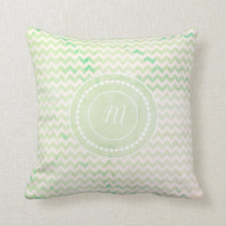 monogrammed Chevron Cushion