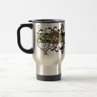 Monogrammed Personalized Fancy Flourish Stainless Steel Travel Mug