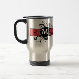 Monogrammed Personalized Victorian Flourish Stainless Steel Travel Mug